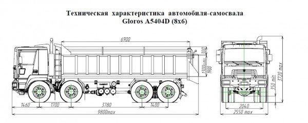 Каталог самосвалов Gloros-A5404D от «ЯРОВИТ МОТОРС»