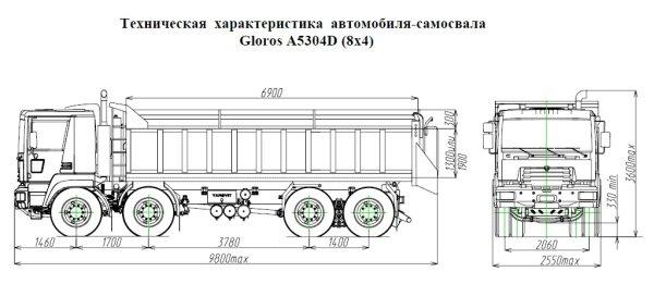 Каталог самосвалов Gloros-A5304D от «ЯРОВИТ МОТОРС»